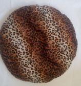 Raschelkissen Gepard Fell-Imitat, Rückseite Velours-Fleece beige-creme ca. 65 cm