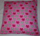 Raschelkissen Ein Katzentraum in pink, Rückseite silbergrau ca 50x50 cm