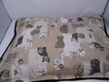 Raschelkissen, Blumenkatzen, Rückseite  schwarz ca 64x49 cm