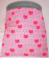 Kuschelsack 05, Variante grau, normal,  Ein Katzentraum in pink, Baumwolle, Innenseite Fleece, grau