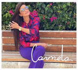 Blusa  flores red purple Twinset Milano