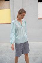 Blusa de punto y tejido combinado Sita Murt