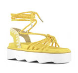 New bio sandal all-rope lace up yellow Mou