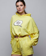 Short liso amarillo Space Flamingo