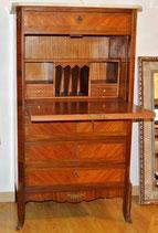 Bureau in bois de rose con piano in marmo