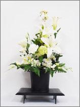 モダン仏花(花台付)白色