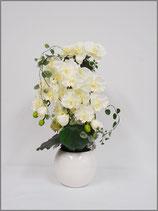 アレンジ仏花胡蝶蘭ホワイト(花瓶付き)