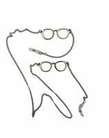 Catenella con 2 occhiali stilizzati