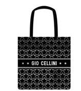 City  Bag Giò Cellini Nero/Stelle bianche