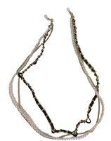 Catenella tris: Perle, Nero/Oro, Oro