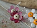 Ohrringe Blume beige-rosa