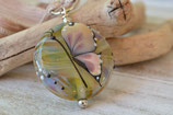 Glaslinse mit Schmetterling