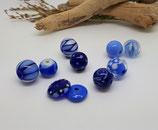 Glasperlen-Kreativset blau