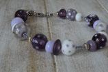 Armband violett-lila-creme