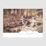 """Postkarte """"Kinder im Wald"""""""