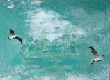 """Postkarte """"Vogelflug"""""""