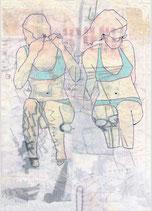 """Postkarte """"Frauen im Bikini"""""""