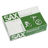 SAX Reißnägel Phalanx 3 und 4, 100 Stück 12 mm und 14 mm silber