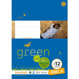 URSUS GREEN Heft FX12 A4 20 Blatt liniert 9 mm mit Rahmen
