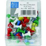 ALCO Pinnadeln 662 40 Stück farbig sortiert