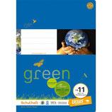 URSUS GREEN Heft FX11 A4 20 Blatt glatt mit Korrekturrand