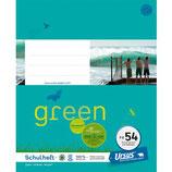 URSUS GREEN Heft FX54 Quart 40 Blatt kariert 5 mm mit Rahmen