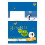 URSUS GREEN Heft FX8 Vierling A5 20 Blatt liniert 6/6/6/2 mm