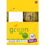 URSUS GREEN Heft FX47 A4 40 Blatt kariert 5 mm mit Korrekturrand