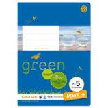 URSUS GREEN Heft FX5 A5 20 Blatt liniert 12 mm