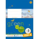 URSUS GREEN Heft FX3 A5 20 Blatt kariert 7 mm