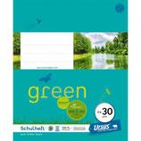 URSUS GREEN Heft FX30 Quart 20 Blatt glatt