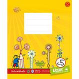 URSUS FORMATI Schreibheft S4 Quart 20 Blatt liniert 10 + 5 mm