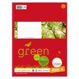 URSUS GREEN Collegeblock A4 80 Blatt 70 g/m² kariert
