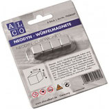 ALCO Neodyn Würfelmagnete 4 Stück silber