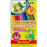 JOLLY Buntstifte 3000 Supersticks Classic 12, 24 oder 26 Stück im Metalletui mehrere Farben