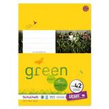 URSUS Green Format-X Heft FX42 A4 40 Blatt mit Rahmen liniert