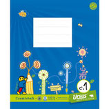 URSUS FORMATI Creativheft W6 Quart 20 Blatt liniert 10 mm