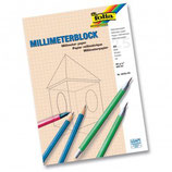 FOLIA Millimeterblock DIN A4 und A3 80 g/m2 25 Blatt