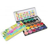 JOLLY Deckfarbkasten 24 Farben inkl 2 Pinsel und Deckweiß