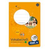 URSUS Green Format-X Vokabelheft FX25 A5 40 Blatt liniert 10 mm mit 2 Mittelstrichen