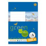 URSUS Green Format-X Heft FX4 A5 20 Blatt kariert 5 mm mit Rahmen