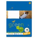 URSUS Green Format-X Heft FX15 A4 20 Blatt liniert 9 mm mit Korrekturrand
