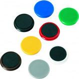 ALCO Magnete Ø 2,4 cm,   Ø 3,2 cm und Ø 3,8 cm, 10 Stück mehrere Farben