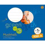 URSUS GREEN Musikheft FX1a 22 x 17,5 cm 8 Blatt