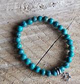 Bracelet Turquoise LOUANE (verte) - Perle 6mm