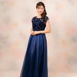 S-057-navy ドレス