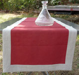 Chemin de Table : Rouge bord naturel