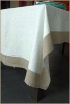 Nappe : Blanc bord naturel