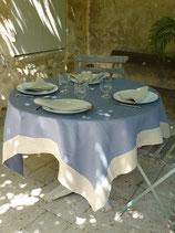 Nappe : Bleu bord naturel