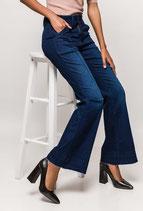 Jeans Vintage Sweet Mystery a zampa dark blu